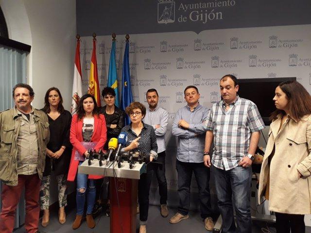 TRABAJADORES SERVICIO SEGURIDAD BOTÁNICO JUNTO A GRUPOS DE LA OPOSICIÓN