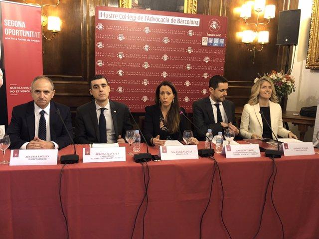 Roda de premsa sobre la llei de segona oportunitat de l'Icab i el Cicac