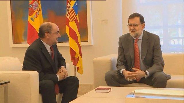 Reunión entre Lambán y Rajoy