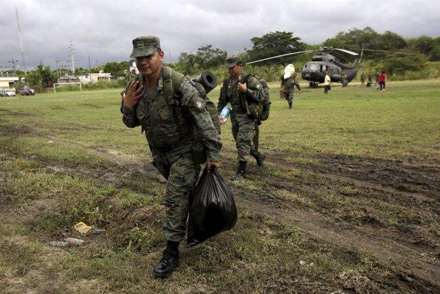 Efectivos del Ejército de Ecuador.