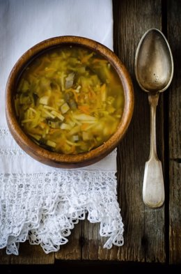 Sopa, otoño, comida, invierno, cuchara