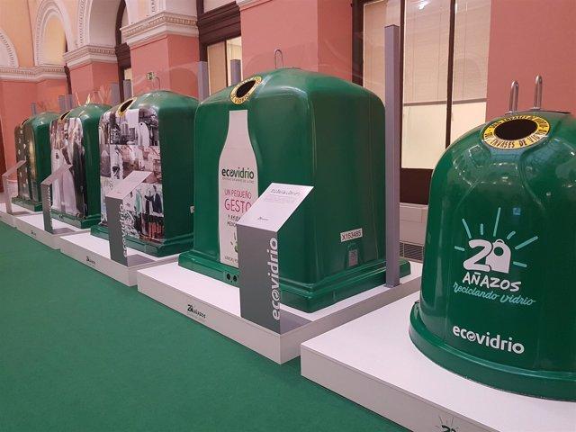 """Exposición """"20 años"""" de Ecovidrio en el MAPAMA"""