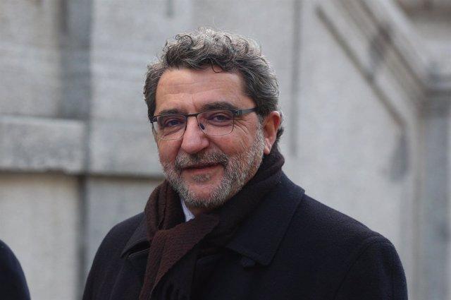 El diputado y exalcalde Antonio Gutiérrez Limones cuando declaró en el TS