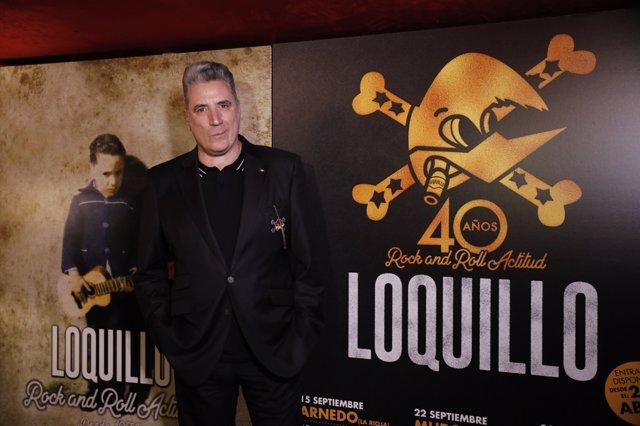 El cantante Loquillo presenta un disco y gira por sus 40 años en los escenarios