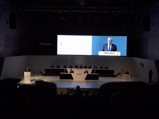 El president de Banc Sabadell, Josep Oliu