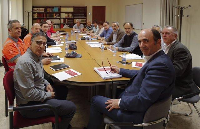 Ayerdi en la comisión de seguimiento de las obras de los túneles de Belate