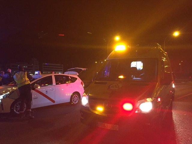 Muere un hombre de 31 años tras ser atropellado por un taxi en la M-40