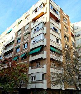 Edificio de la calle San Juan de Letrán antes del incendio