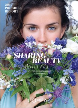 Informe de Progreso 2017', 'Sharing Beauty With All' de L'Oréal