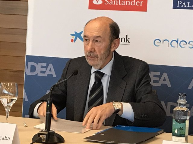 El exministro Alfredo Pérez Rubalcaba.