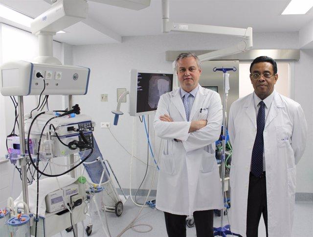 Los doctores Abreu y Calleja