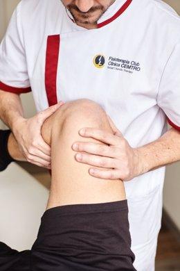 Fisioterapeuta, rodilla