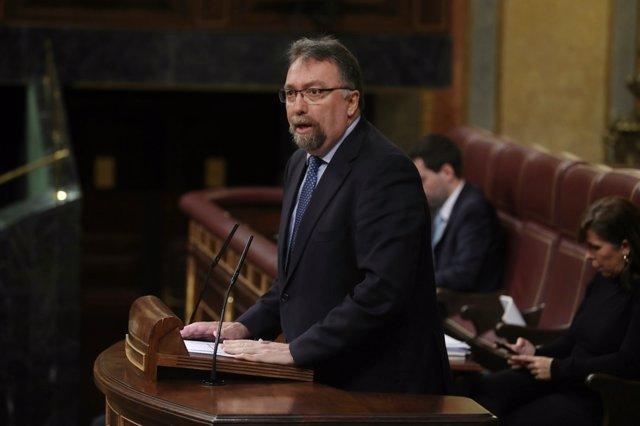 El diputado de Foro Asturias Isidro Martínez Oblanca interviene en el Congreso