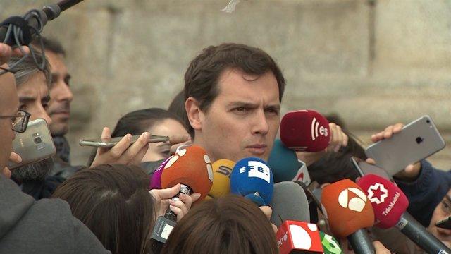 Rivera en el primer encuentro nacional de Ciudadanos