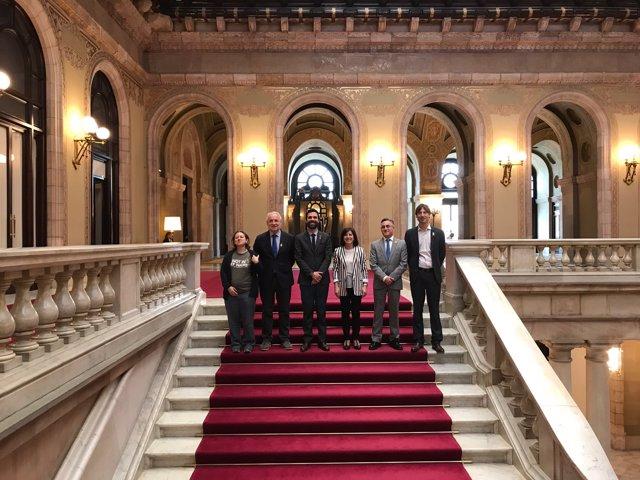 Reunió del president Roger Torrent amb Eurodiputats