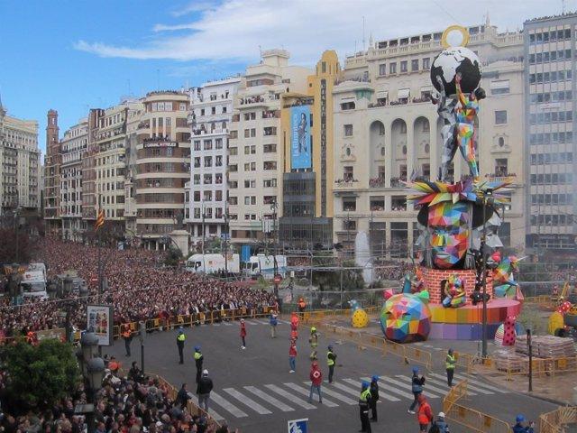 Falla del Ayuntamiento de València de 2018