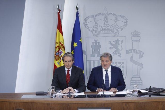 Roda de premsa d'Iñigo de la Serna i Méndez de Vigo després del Consell