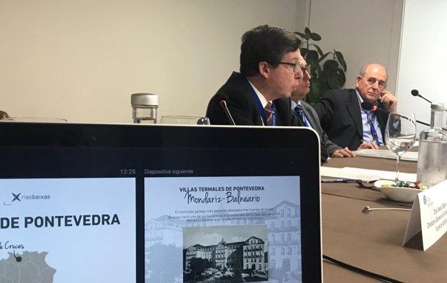 López Font en la reunión de las de la Asociación de Villas Termales de la FEMP