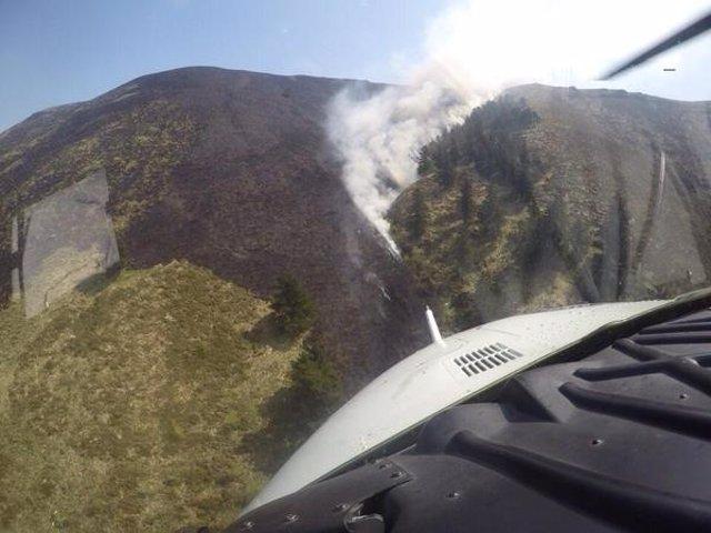 Incendios forestales en Cantabria.
