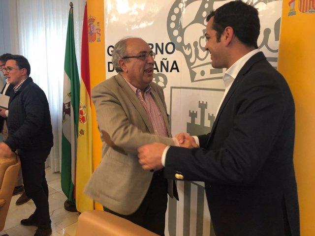 Reunión del PP de Jaén con la CHG