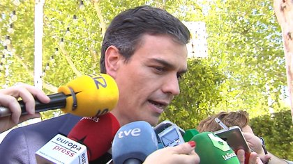 El secretario general del PSOE, Pedro Sánchez, protagoniza este sábado un acto público en Logroño