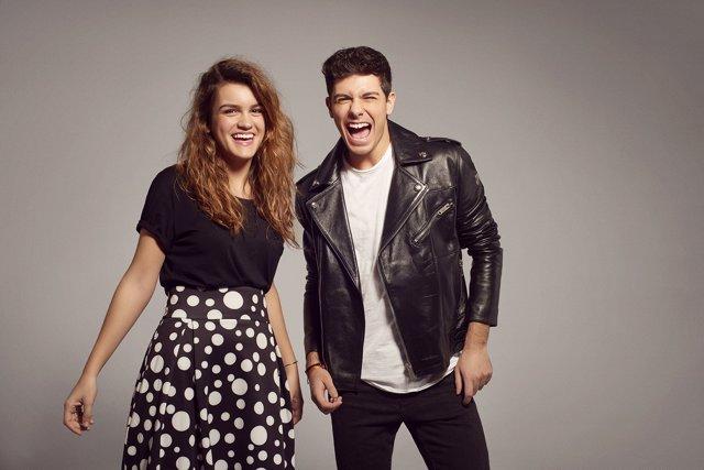 Amaia y alfred posado para Eurovisión