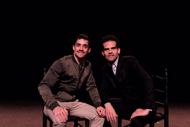 Javier Fernández y Antonio Najarro en la sede de Ballet Nacional de España
