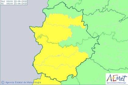 Extremadura estará en riesgo por lluvias y tormentas este fin de semana