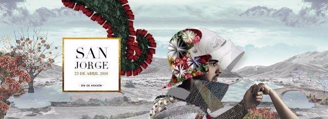 Cartel de la festividad de San Jorge.