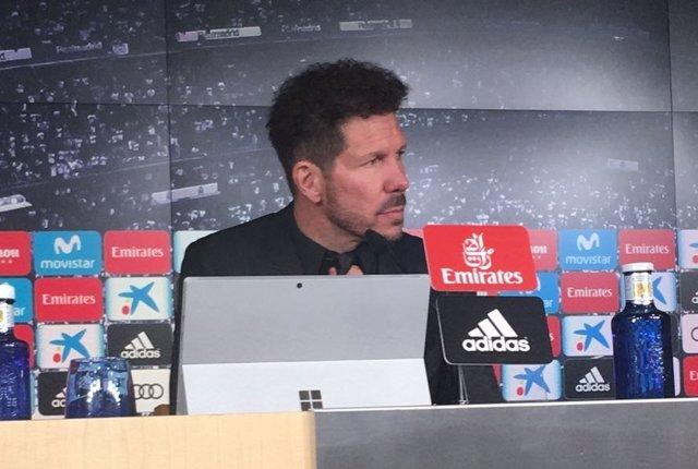 El entrenador del Club Atlético de Madrid Diego Pablo Simeone