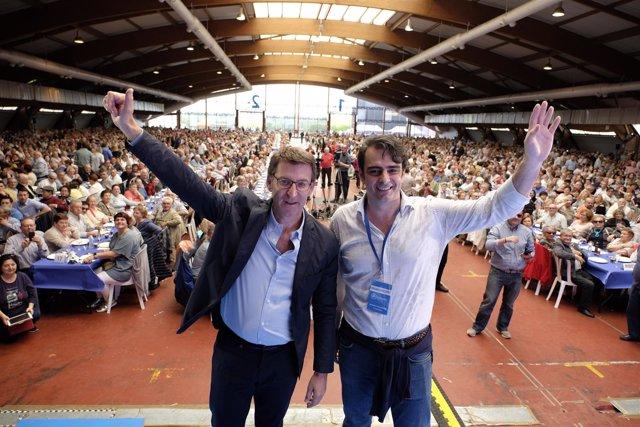 Feijóo y Diego Calvo en la II Romería Popular del PP de A Coruña