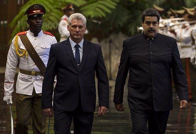 Díaz-Canel y Nicolás Maduro