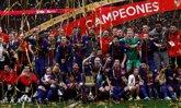 Foto: El Barça exhibe ganas de Copa y doblete