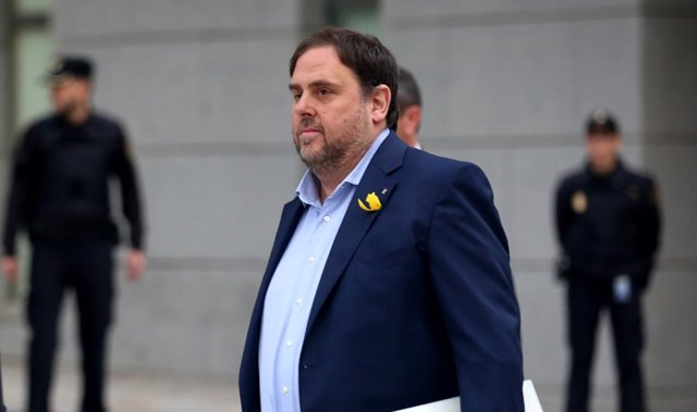 Junqueras llega a la Audiencia Nacional para declarar por rebelión