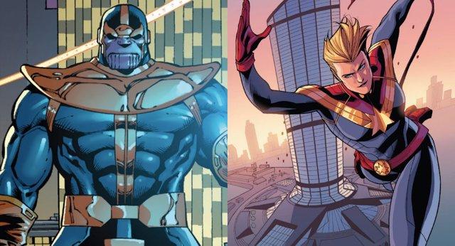 Thanos y Capitana América