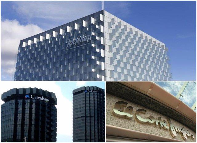 Telefónica, CaixaBank y El Corte Inglés