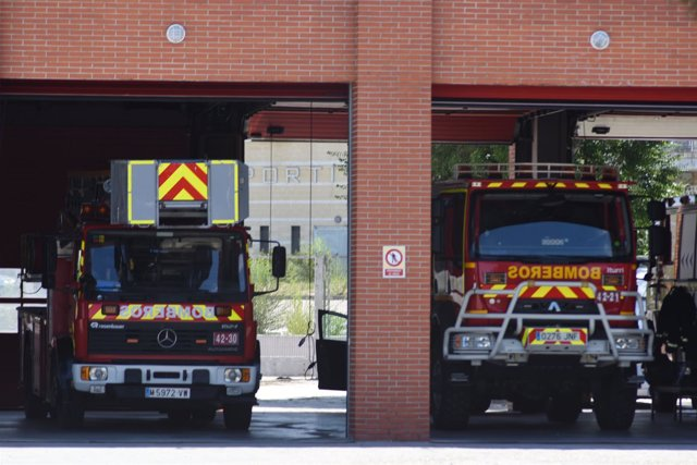 Bombero, coche de bomberos en Madrid