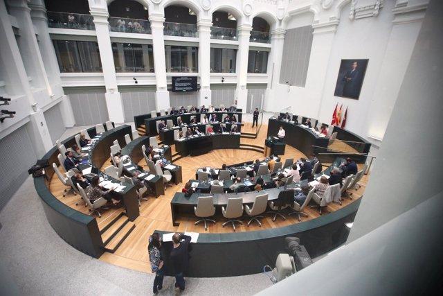 Pleno en el Ayuntamiento de Madrid