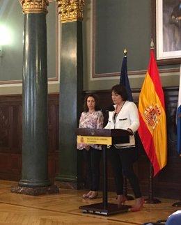 Presidenta de la ZEC, Jimena Delgado, en su toma de posesión del cargo
