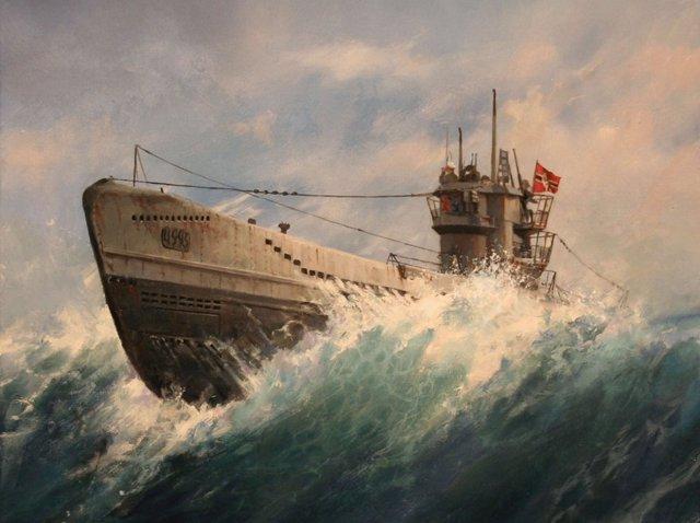 Submarino alemán de la II Guerra Mundial