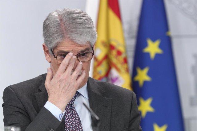Rueda de prensa de Alfonso Dastis tras el Consejo de Ministros