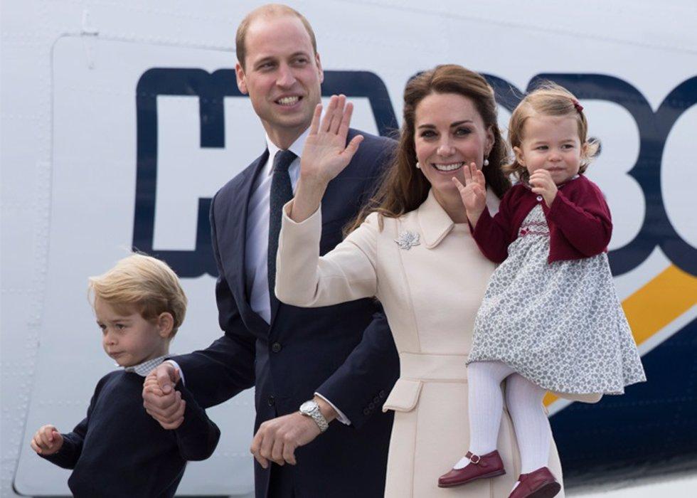 Duques de Cambridge con hijos