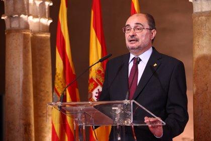 """Lambán reivindica en el Día de Aragón """"un patriotismo fuerte"""" para una España de """"ciudadanía y solidaridad"""""""