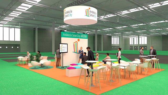 Expositor de Andalucía Smart City en el Foro GreenCities