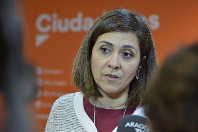 Susana Gaspar, portavoz parlamentaria de Cs Aragón.