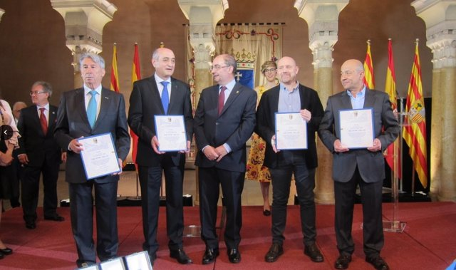 Agentes sociales reciben el Premio Aragón 2018.