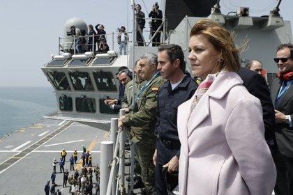 """Cospedal destaca la """"experiencia y solvencia"""" de España para que Rota acoja el mando de la Operación Atalanta"""