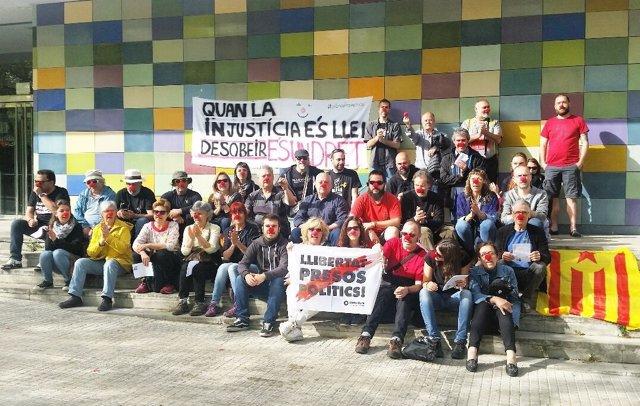 Protesta a favor de Jordi Pesarrodona