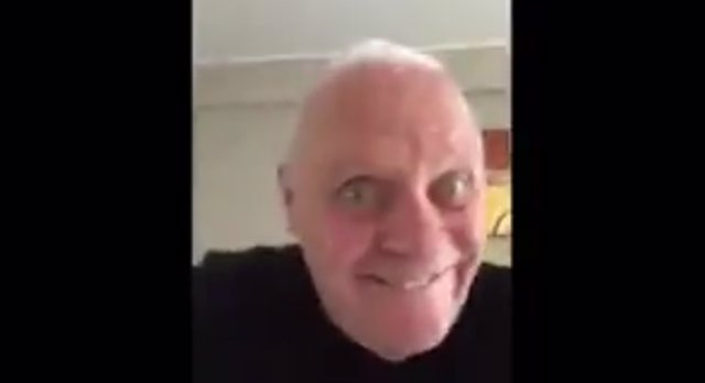Anthony Hopkins baila en Twitter
