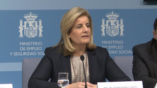 Fátima Báñez Presentando Los Resultados De Inclusión Laboral